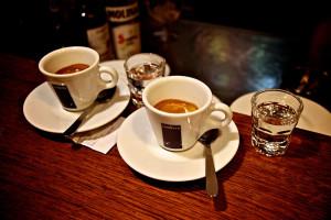 Café ristretto, expresso e longo