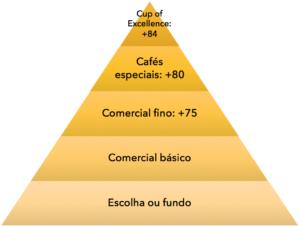 Pirâmide de classificação por defeitos do café