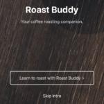 Torrar café em casa - Tela inicial do app