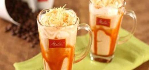 Café gelado com coco